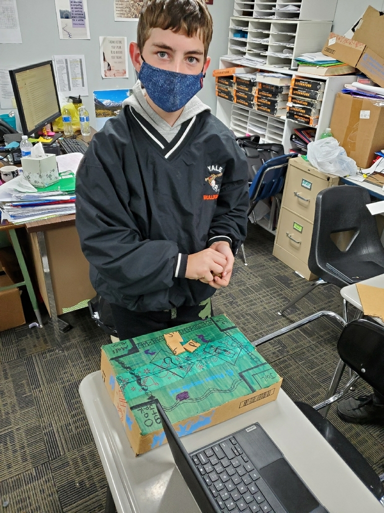 Student with game board.