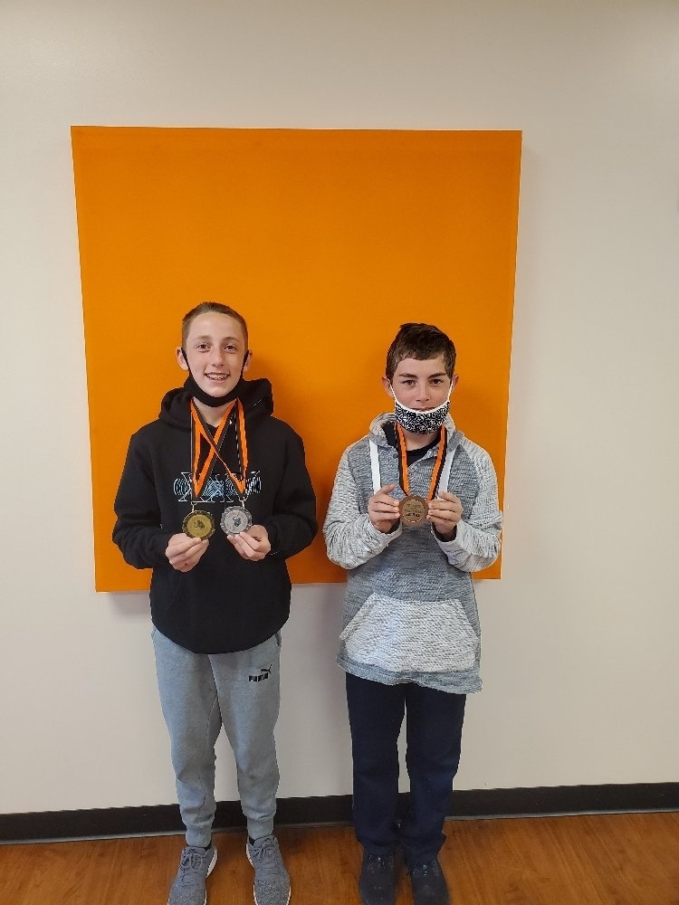 7th Gr. Boys with Medals