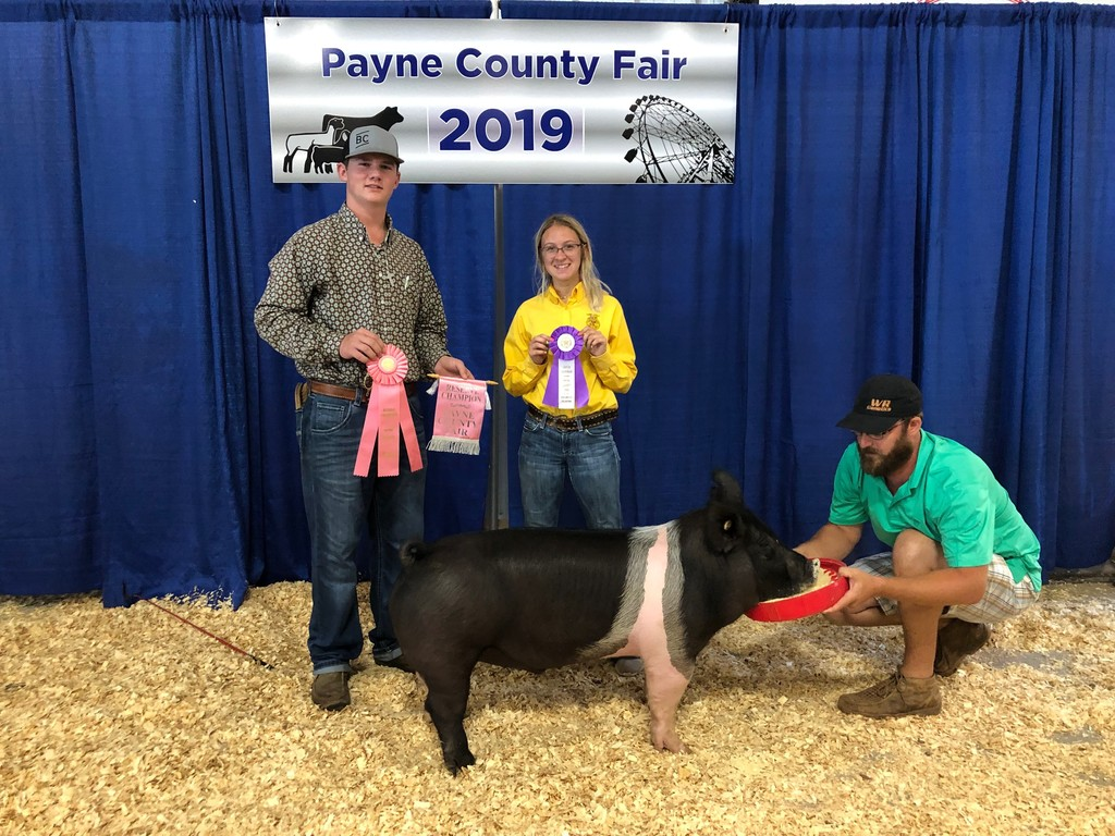 Payton Glasby, Payne County Fair Champion Sr. Swine Showman