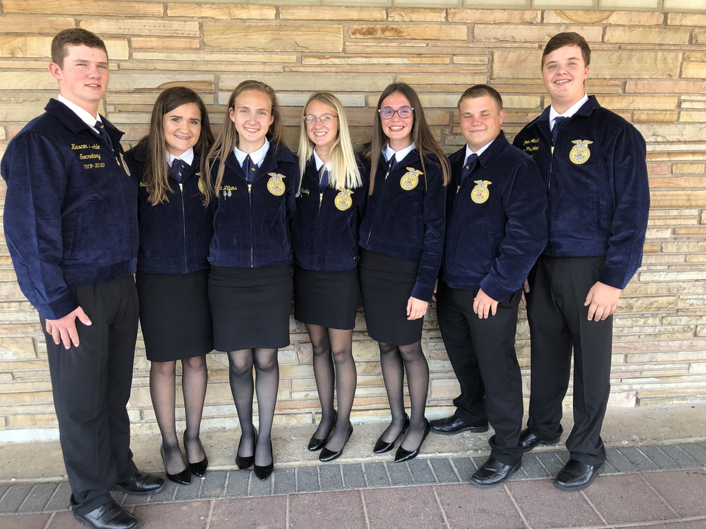Yale FFA Officer Team: Kascen Humble, Emily Morphew, Katelynn Williams, Payton Glasby, Zoie Williams, Kamren Coffman & Cooper Martin