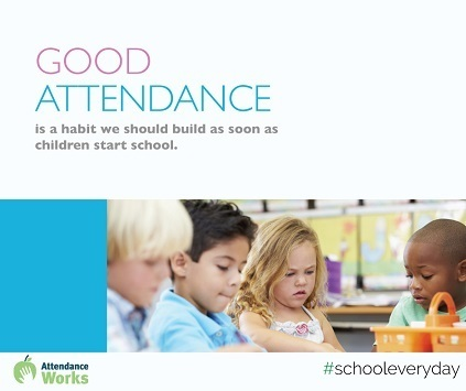 Good Attendance is a habit we should build as soon as children start school.