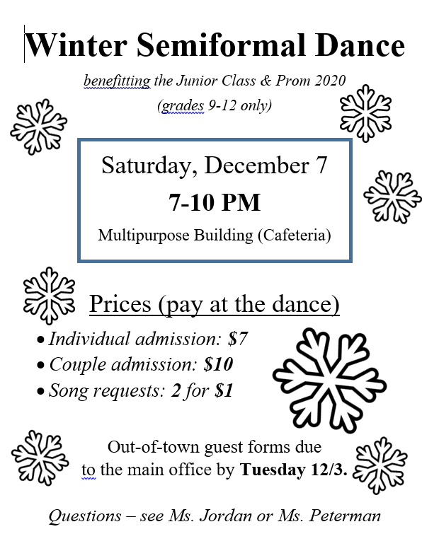 semiformal dance flyer